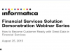 How to Become Customer Centric with Data in Financial Services: A Live Demo
