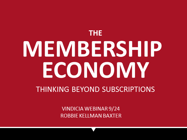 The Membership Economy | Hosted by Vindicia