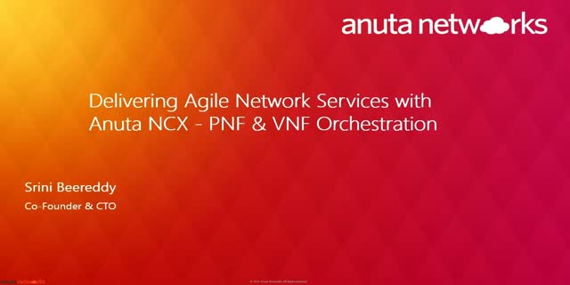 Delivering Agile Network Services with Anuta NCX - PNF & VNF Orchestration