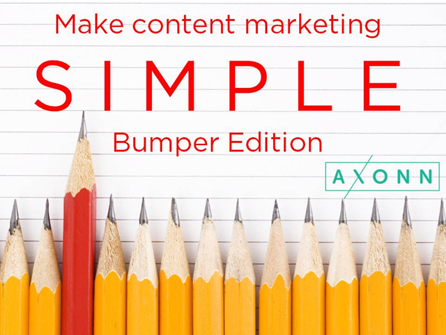 Make content marketing simple: Bumper Edition