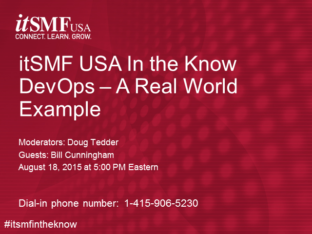 itSMF USA In the Know Podinar