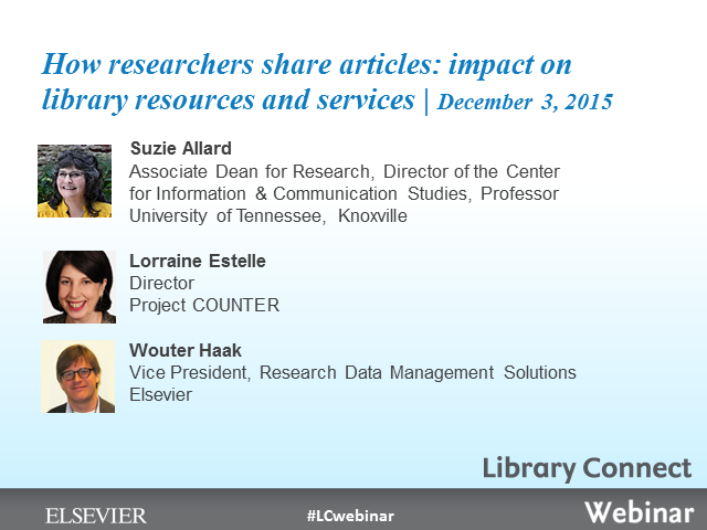 How researchers share articles: impact on library resources and services
