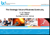 BCI webinar: The strategic value of business continuity