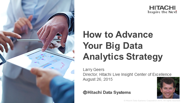 How to Advance Your Big Data Analytics Strategy