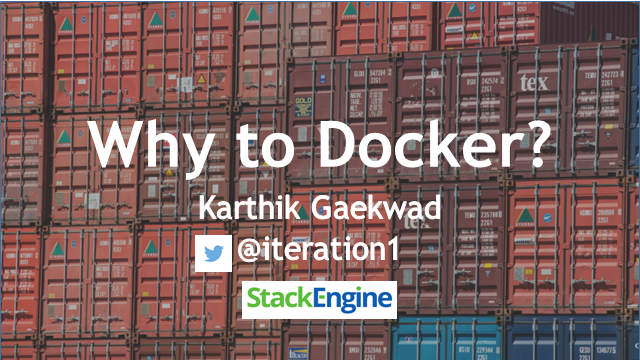 Why to Docker?