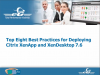 Deploying Citrix XenApp & XenDesktop 7.6 | Top 8 Best Practices