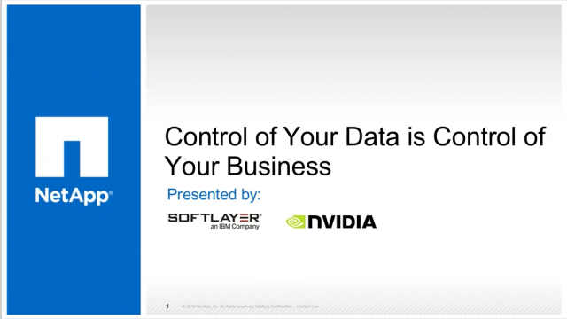 Control of Your Data is Control of Your Business