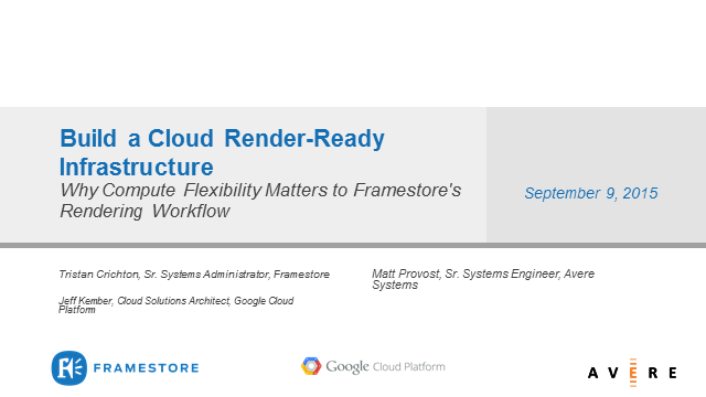 Build a Cloud Render-Ready Infrastructure