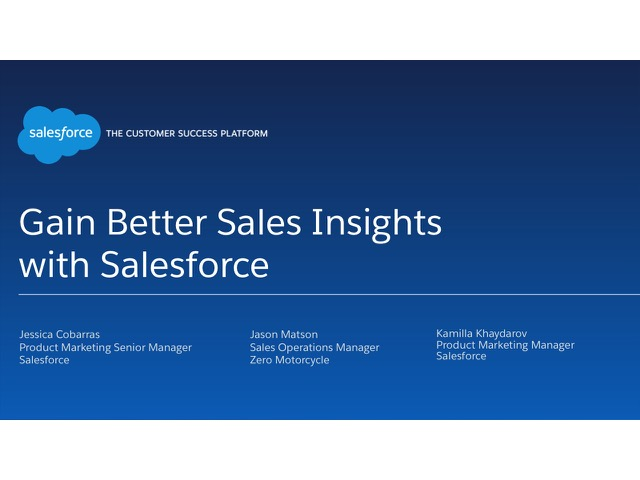 Gain Better Sales Insights with Salesforce