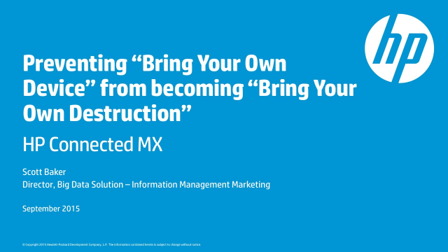 """Prevent """"Bring Your Own Device"""" from becoming """"Bring Your Own Destruction"""""""