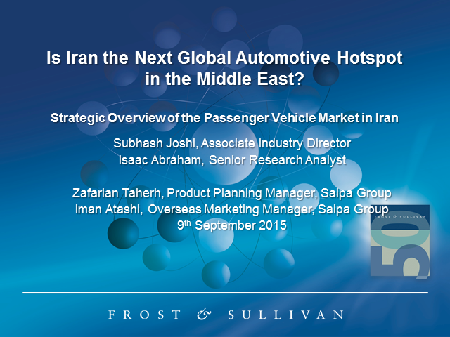 Iran—The Largest Untapped Automotive Market on the Planet