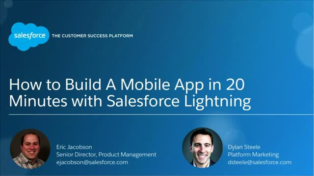 How to Build an App in 20 Minutes Using Lightning Components with Salesforce
