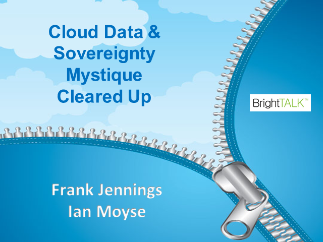 Cloud Data and Sovereignty mystique Cleared Up