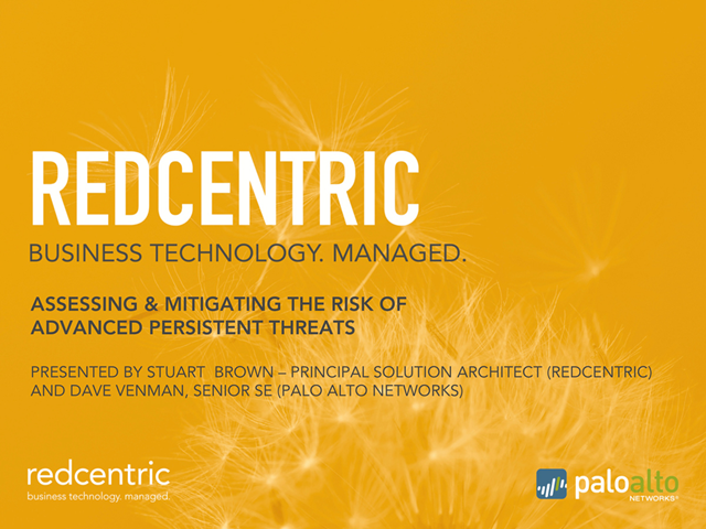 Assessing and mitigating the risk of advanced persistent threats