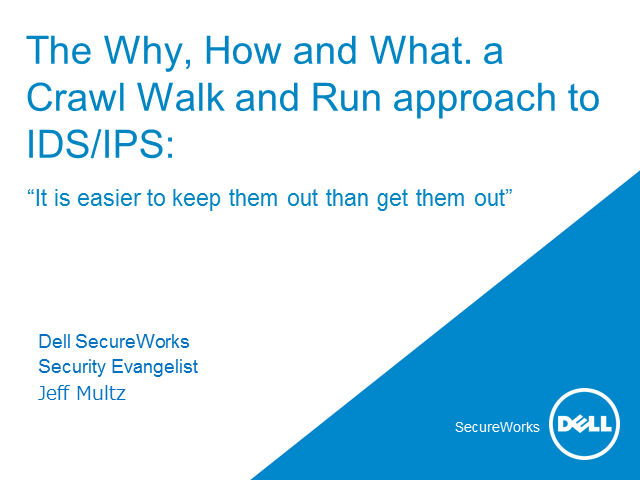 Australia - The Why, How and What: A Crawl Walk and Run Approach to Security
