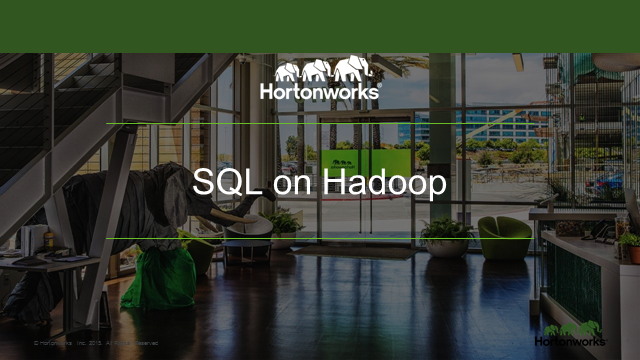 Big Data Series: SQL on Hadoop