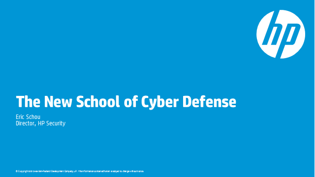 Welcome to the new school of cyber defense