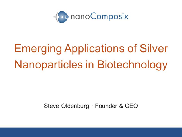Emerging Applications of Silver Nanoparticles in Biotechnology
