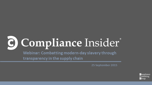 Combatting modern-day slavery through supply chain transparency