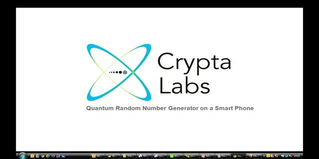 Quantum Random Number on a Smart Phone