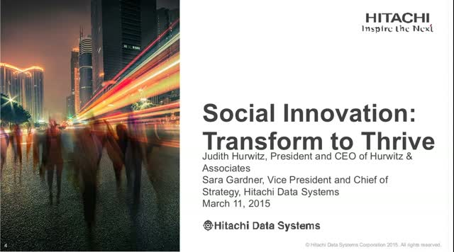 Social Innovation: Transform to Thrive