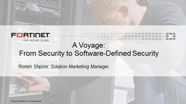 A Voyage: From Security to Software Defined Security