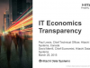 IT Economics Transparency