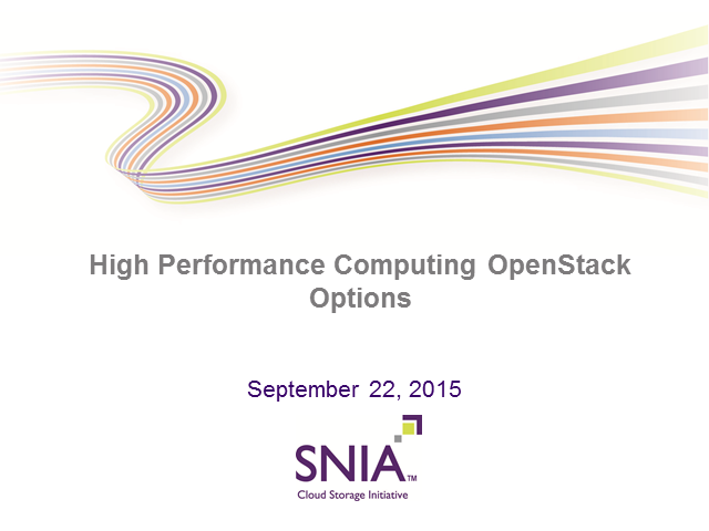 OpenStack File Services for High Performance Computing