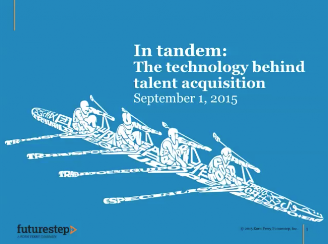 In tandem: Technology and talent acquisition