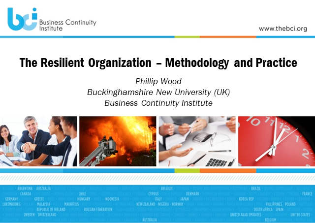 BCI webinar: The resilient organization – methodology and practice
