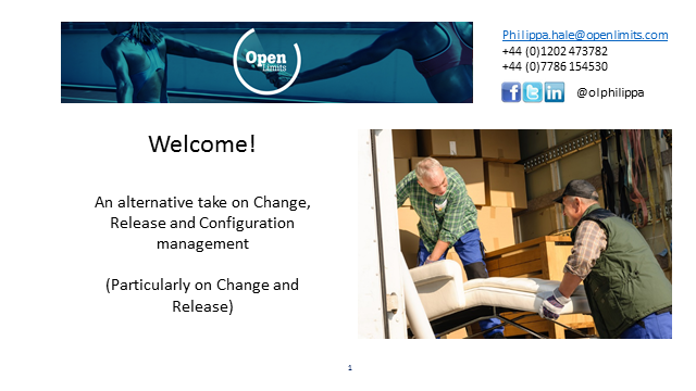 An alternative take on Change, Release and Configuration management