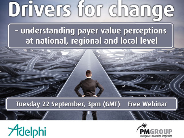 Drivers for change - understanding payer value perceptions