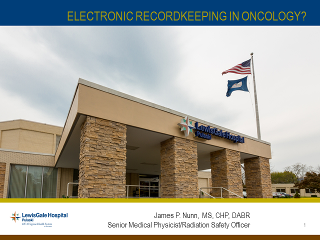Electronic Recordkeeping In Radiation Oncology