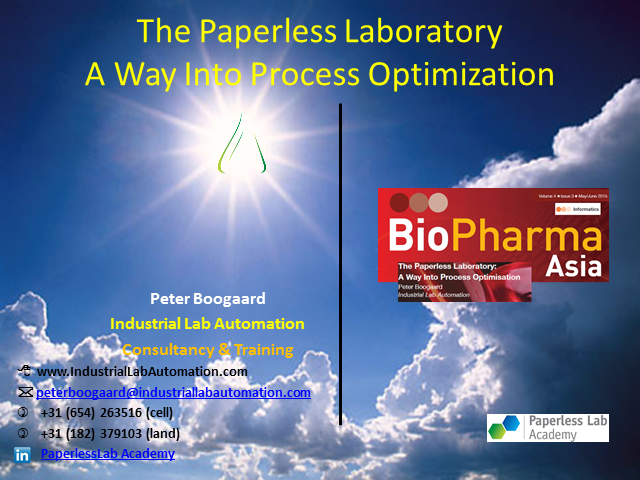 The Paperless Laboratory: A Way Into Process Optimisation