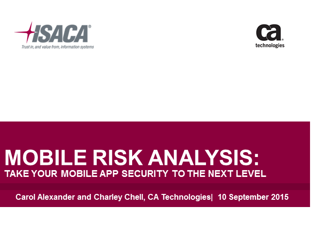 Mobile Risk Analysis:  Take Your Mobile App Security to the Next Level