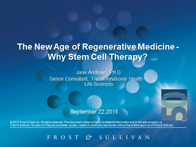 The New Age of Regenerative Medicine – Why Stem Cell Therapy?