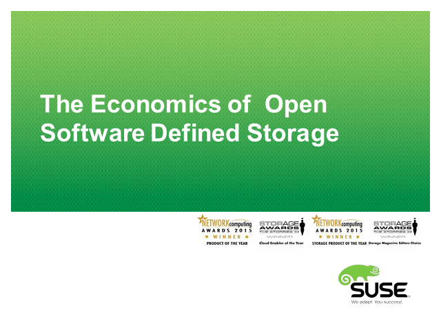 The Economics of Ceph based Software Defined Storage