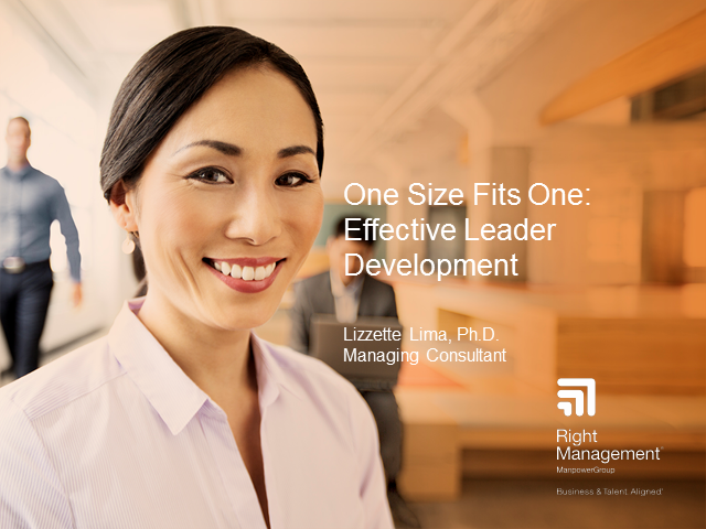 One Size Fits One: Effective Leader Development