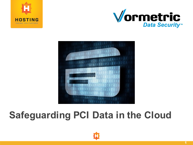 Safeguarding PCI Data in the Cloud
