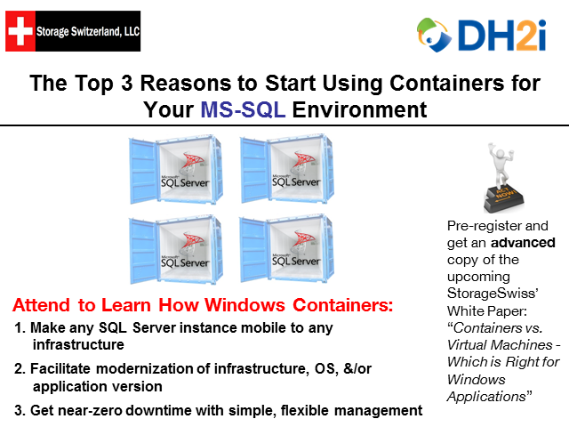 Top 3 Reasons To Start Using Containers For MS-SQL