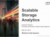 Scalable Storage Analytics