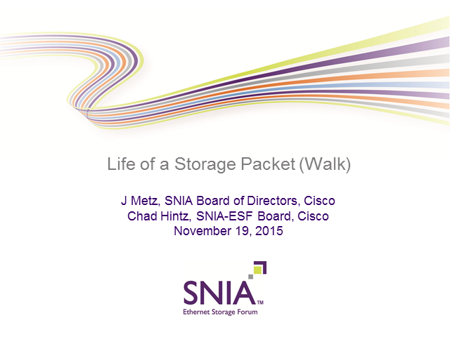 Life of a Storage Packet (Walk)