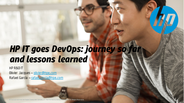 HP IT goes DevOps: journey so far and lessons learned