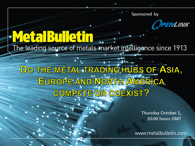 Do the metal trading hubs of Asia, Europe and North America compete or coexist?