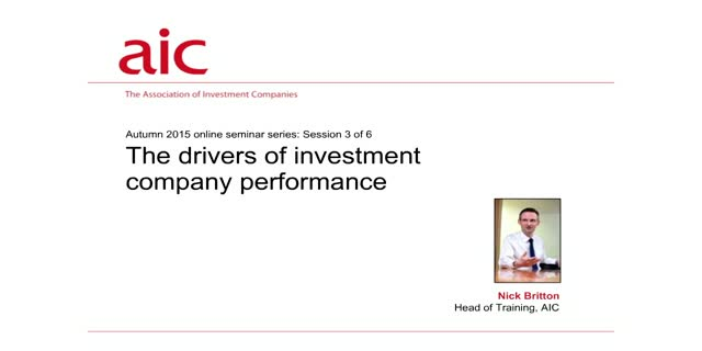 The drivers of investment company performance