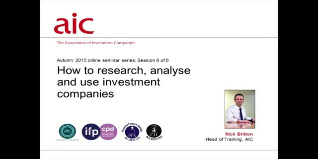 How to research, analyse and use investment companies