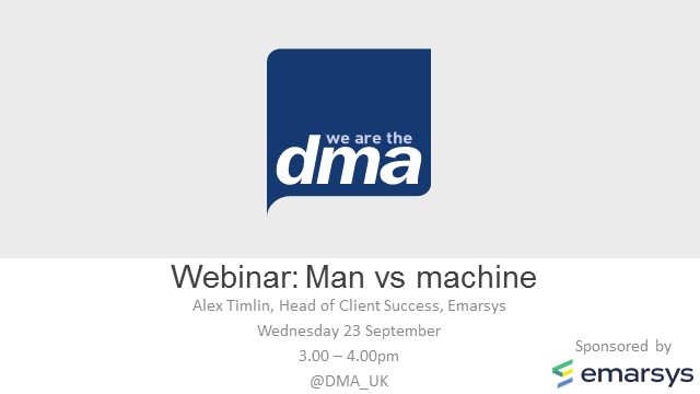 Webinar: Man vs machine