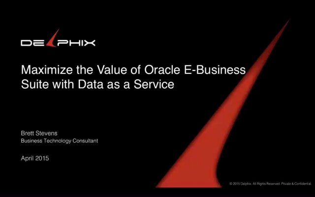 Maximize the Value of Oracle E-Business Suite with Data as a Service