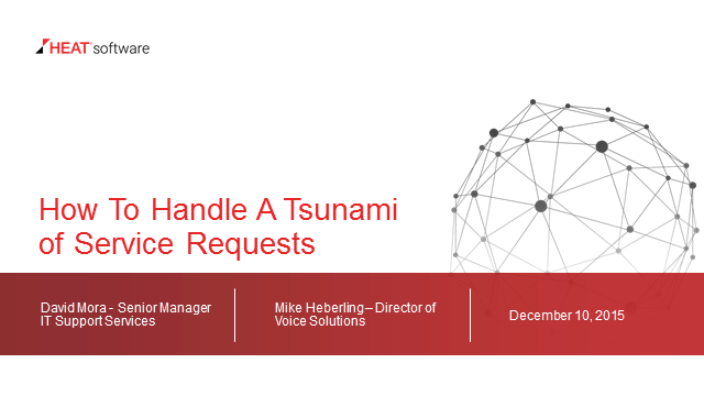 How to Survive a Tsunami of Service Requests