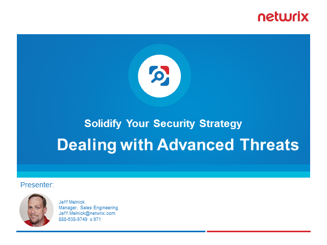 Solidify your Security Strategy: Dealing with Advanced Threats